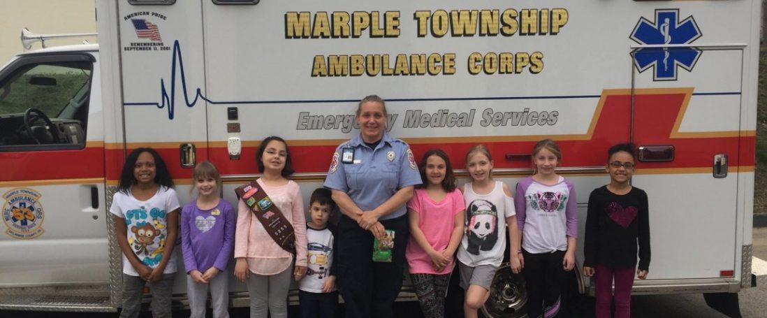 Girl Scout Troop 5355 Visits Marple EMS…